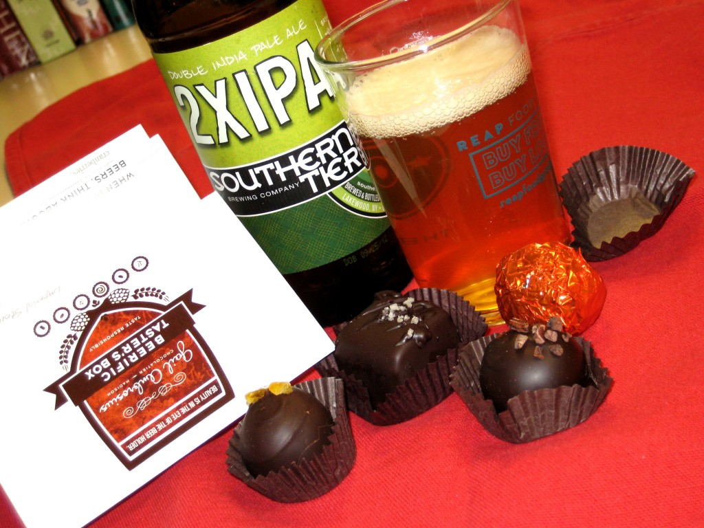 Southern Tier 2XIPA and Gail Ambrosius sea salt caramel will rock your socks off.