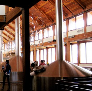 On location at New Belgium in 2010.